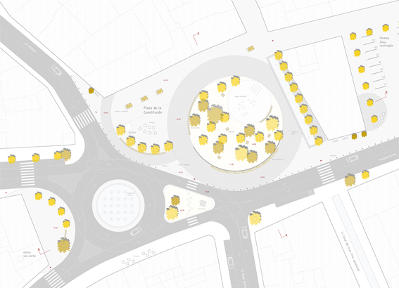 Planimetría de la Plaza de Argamasilla de Alba